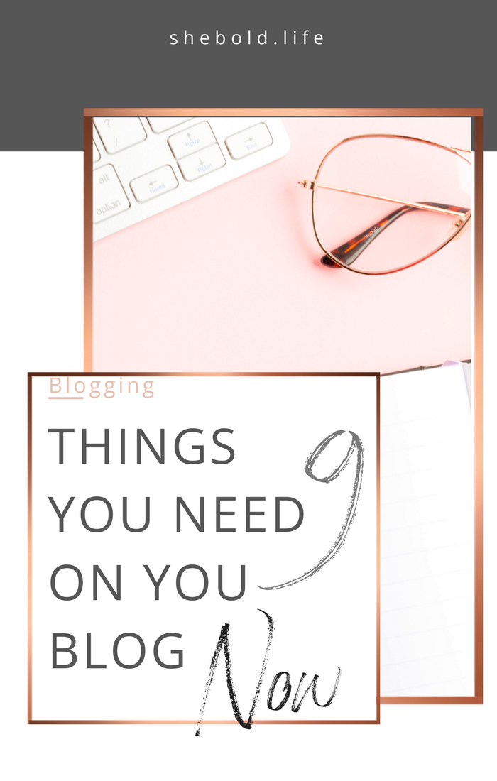 9 essential things you need on your blog