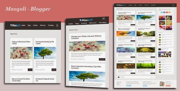 Download Masqoli v1.4 Responsive Blogger Template Free