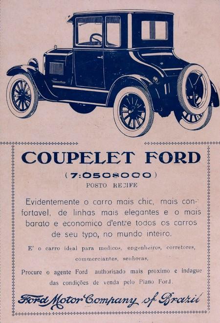 Propaganda da Ford para promover o modelo Coupelet no final dos anos 20
