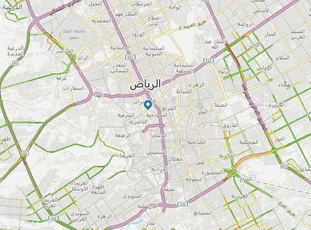 خريطة فندق موفنبيك الرياض Movenpick Hotel Riyadh Map