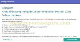 Cek Akun Sim PKB, Ada Undangan Bagi Calon Peserta PPGJ Deadline 20 November 2017