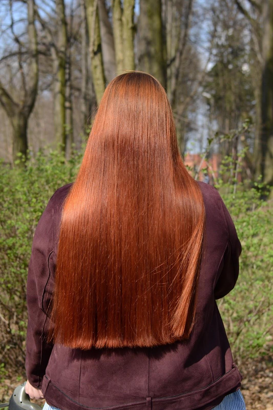 farbowanie rude włosy