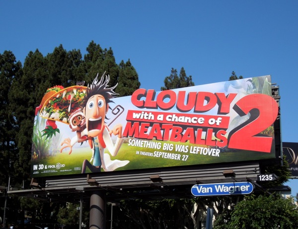 Cloudy Chance Meatballs 2 billboard