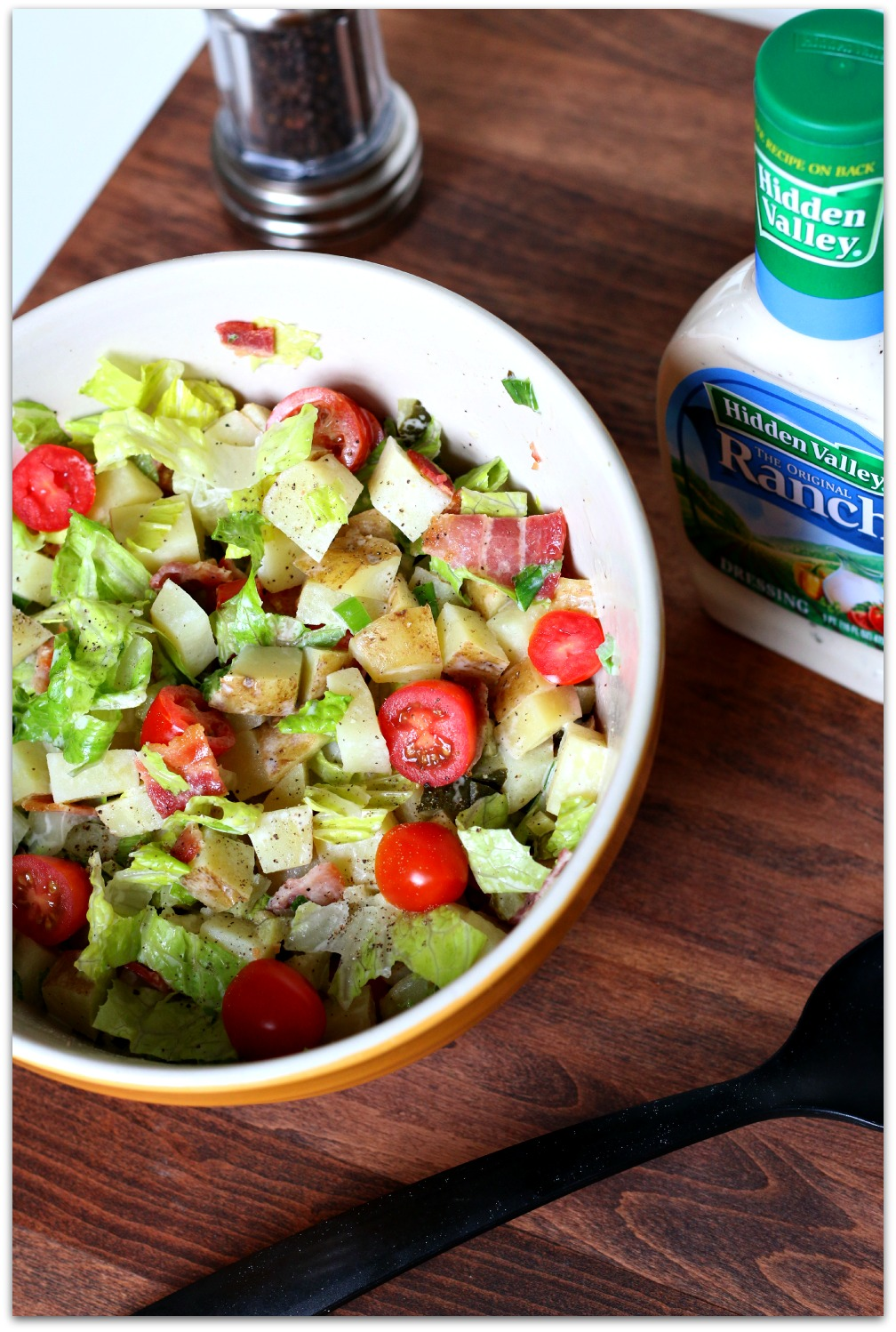 Bacon, Lettuce and Tomato Potato Salad is the perfect dish for your next BBQ!