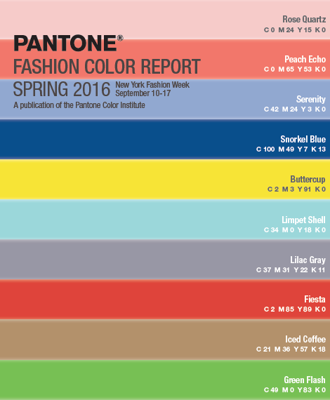 Design Colour Trends For Spring 2016