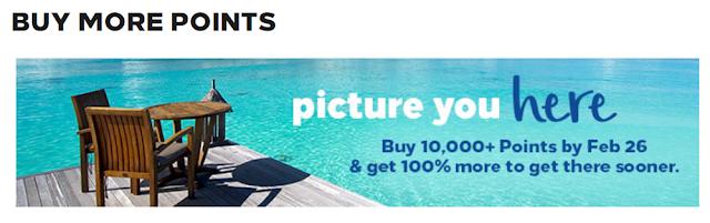 2019Q1~Hilton Buy Points希爾頓買分促銷~ 最高可享100%Bonus(2/26前)