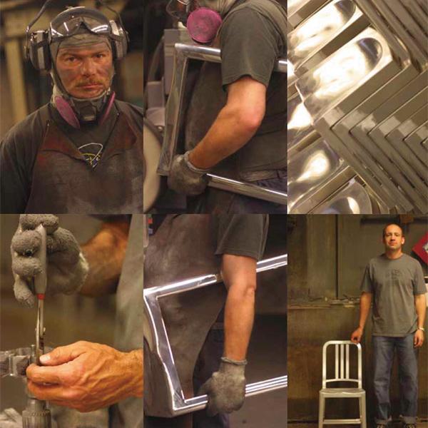 Emeco エメコ NAVY CHAIR ネイビー チェア 光沢 椅子 チェア Gregg Buchbinder グレッグ・バックバインダー スツール 軽量 アルミニウム アメリア