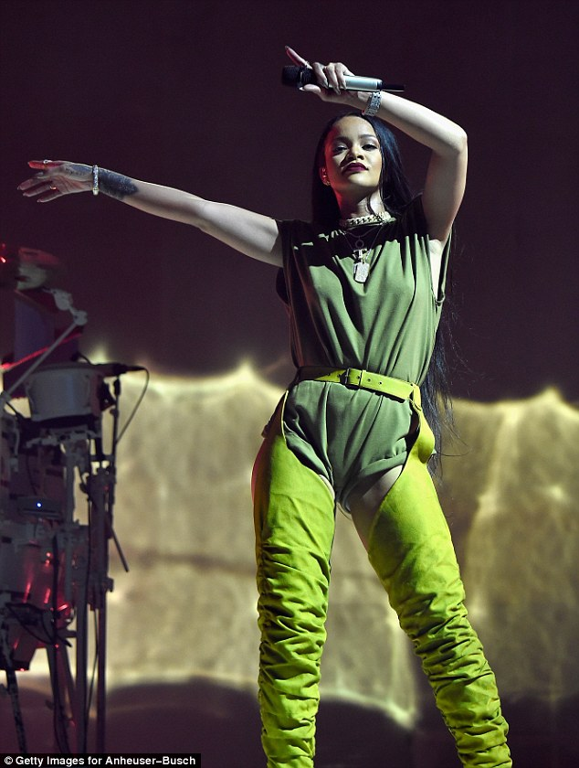 Rihanna puts on eye-popping display of her pert bottom in racy leather chaps at Anti World Tour