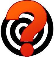 Fragezeichen auf Spirale