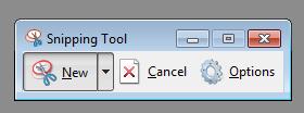 cara screenshot dengan snipping tool