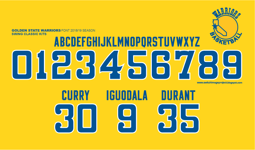 Football teams shirt and kits fan: Font Golden State ...