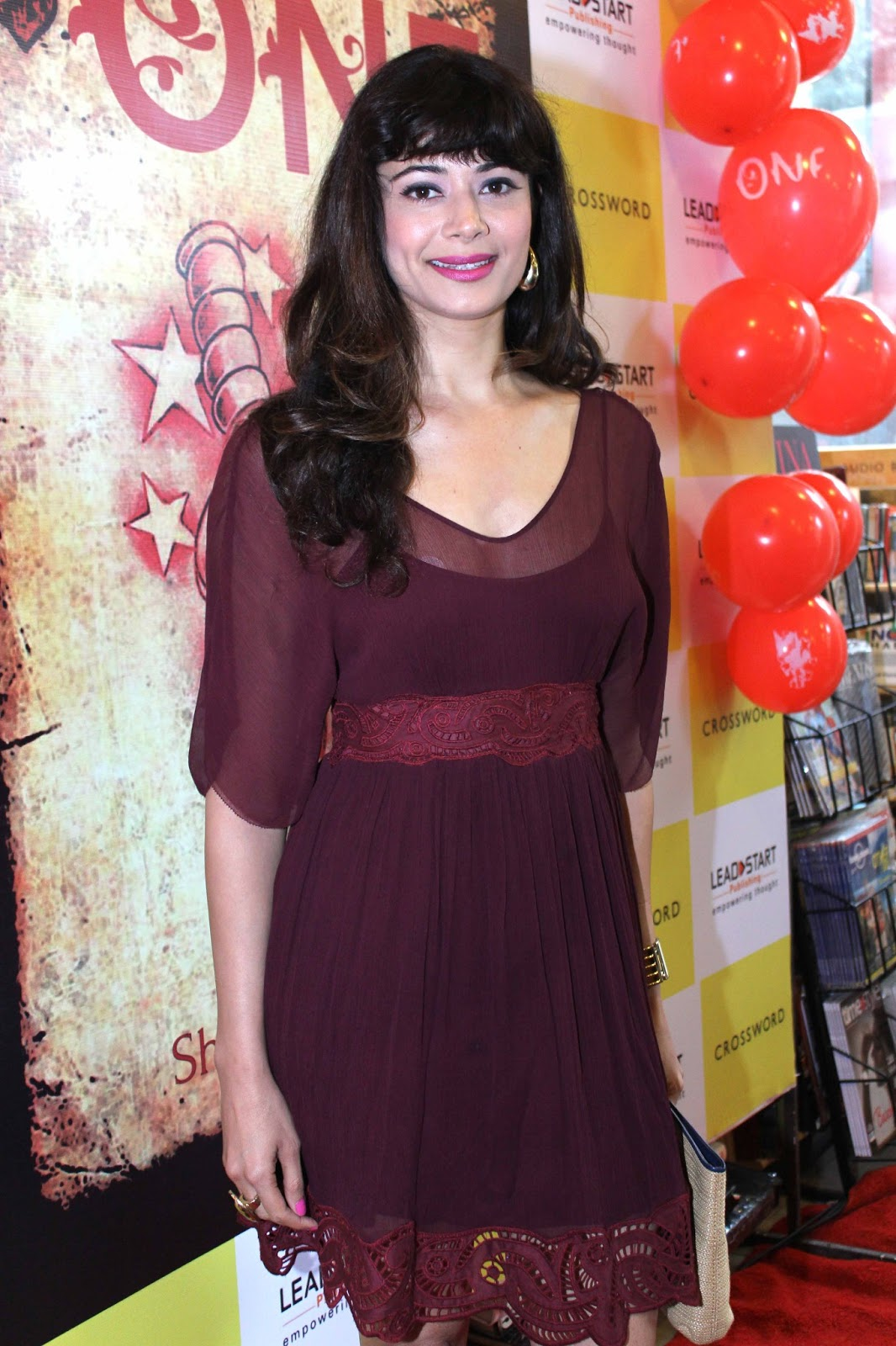 Pooja Batra Hot In Brown Transparent Dress - HD Group Sex