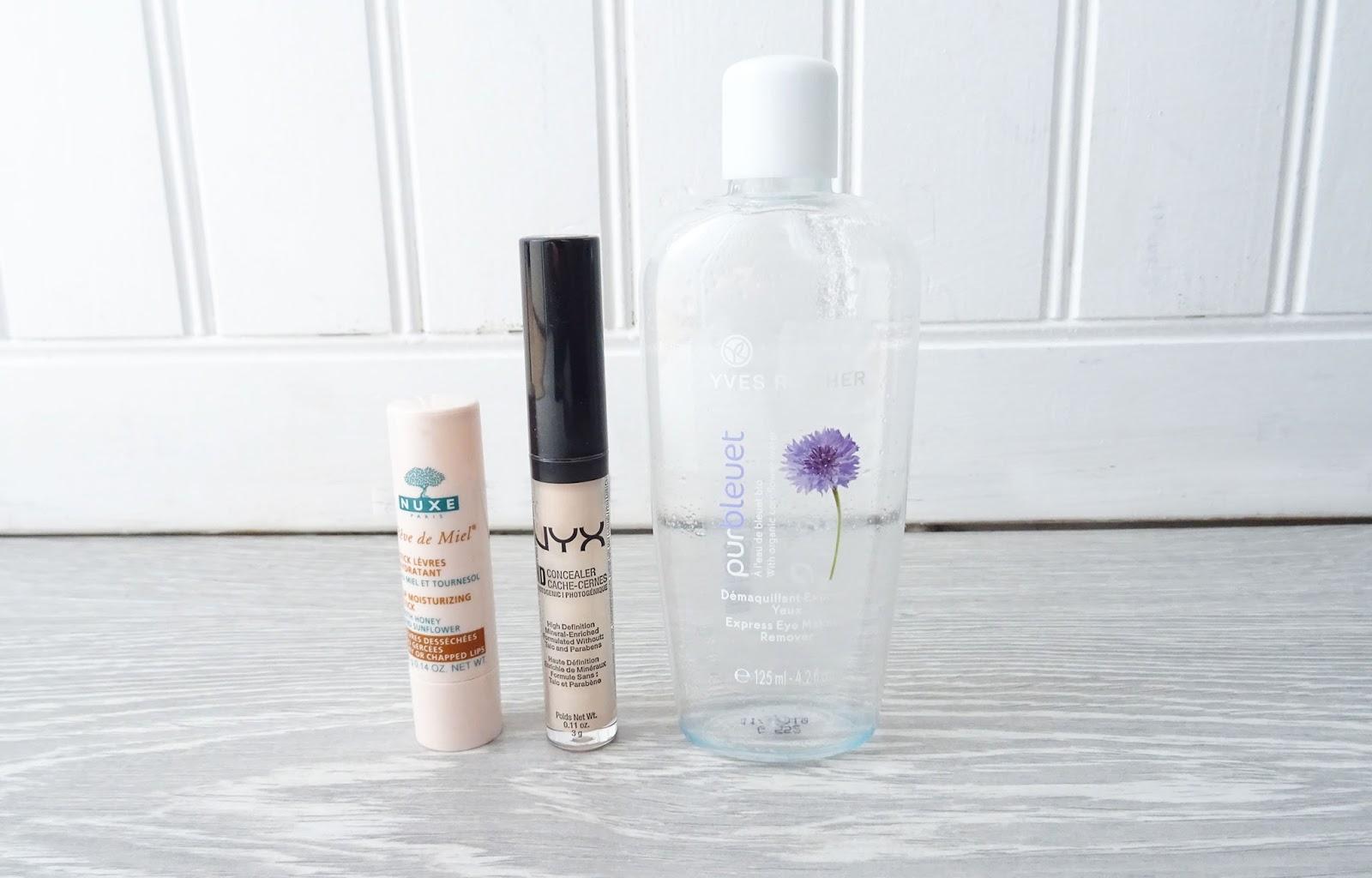 produits terminés soin visage maquillage