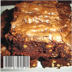 Brownie de chocolate e amendoim simples