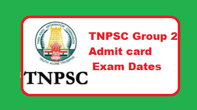 TNPSC Group 2 Admit card 2019