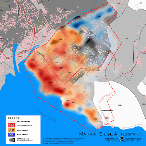 Affected Structures on the Battle of Marawi