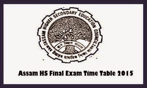 Assam Hslc Routine 2016 Pdf