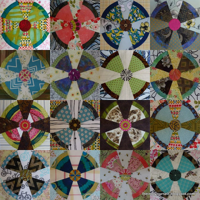 Propeller quilt blocks