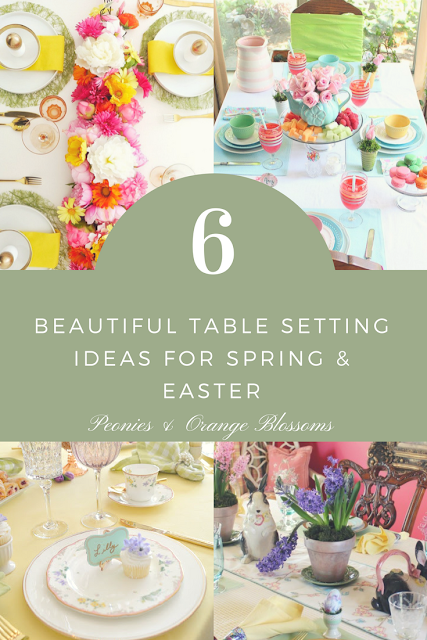 6 Spring and Easter Table Setting and Centerpiece Decor Ideas