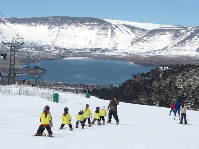 Estação de esqui Caviahue na Argentina