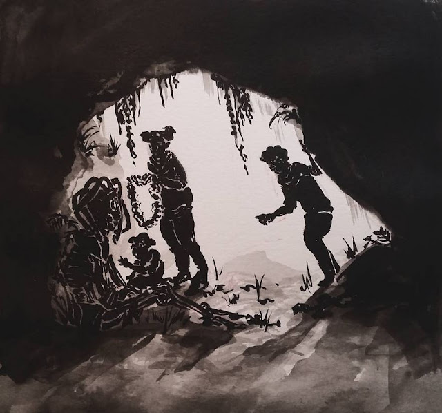 shrike foun din a cave - darkling plain