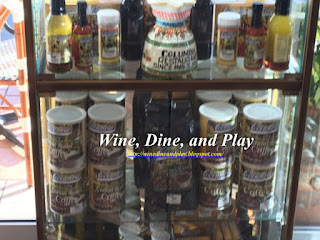 Merchandise from salsa to salad dressings at the Columbia Restaurant in Sarasota, Florida
