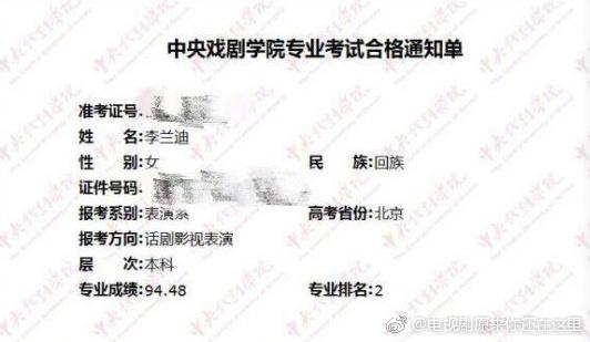 Li Lan Di college exam scores