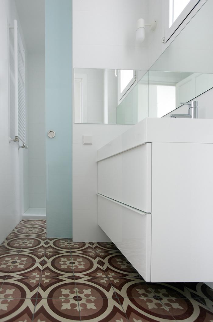 Una pizca de hogar reforma de un piso centenario - Puertas de vidrio para interiores ...