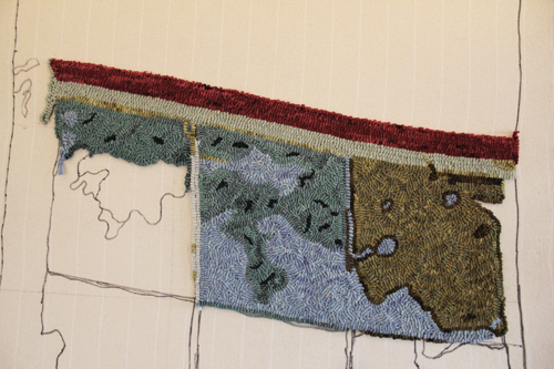 in the studio and elsewhere rug hooking with a new easel and