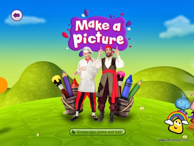 Cbeebies app make a picture