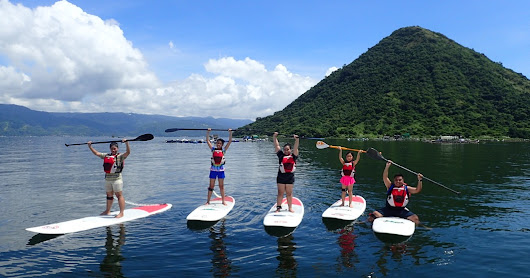 Stand-Up Paddle Boarding in Taal Lake with FiliSUP