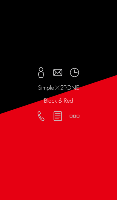2TONE - Black & Red -