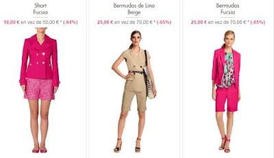 shorts bermudas mujer