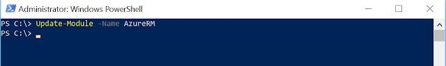 Update the Azure PowerShell module