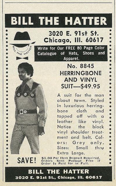 Bill The Hatter -- Herringbone and Vinyl Suit