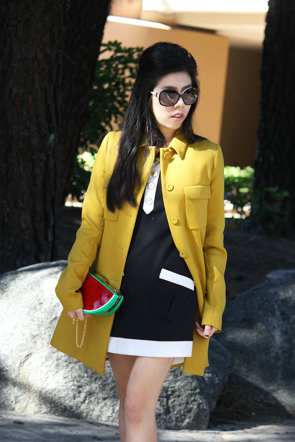 Adrienne Nguyen_Invictus_Zara Mustard Military Coat_What to Wear to a Busines Casual Event