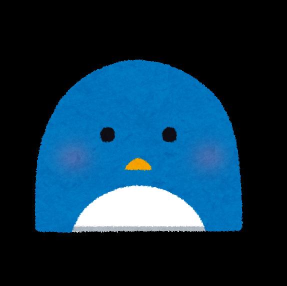 ペンギンの顔のイラスト