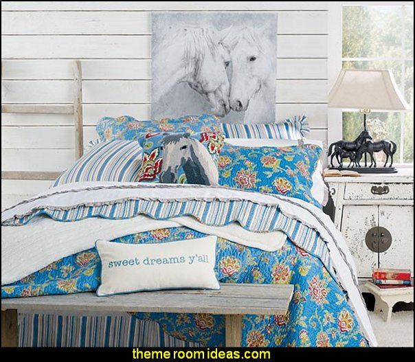 Horse Themed Bedroom Decorating Ideas Part - 19: ... Themed Bedroom Decorating Ideas - Equestrian Decor. Sweet Dreams Yu0027all  Quilted Bedding Collection