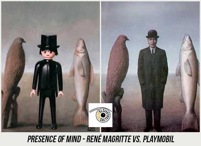 Cuadro-Presence-of-Mind-de-René-Magritte-Hecho-con-Playmobil