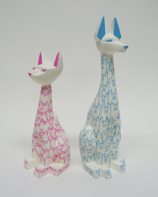 Argonaut Resins x Ume Toys New York Comic-Con 2011 Exclusive Custom Tuttz & Pharaoh Hound Resin Figures