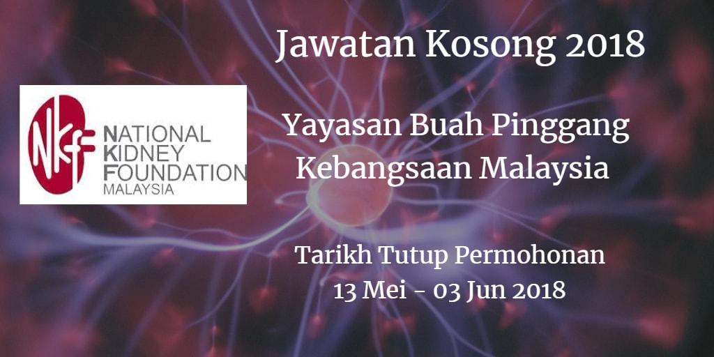 Jawatan Kosong NKF 13 Mei - 03 Jun 2018