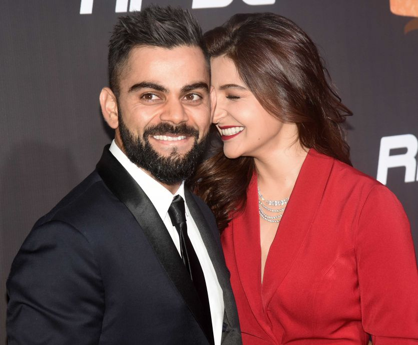 Anushka Sharma and Virat Kohli Super Cute Pics