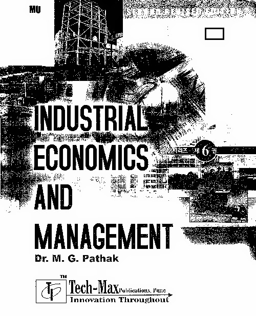 Industrial Economics and Management by M.G.Pathak pdf