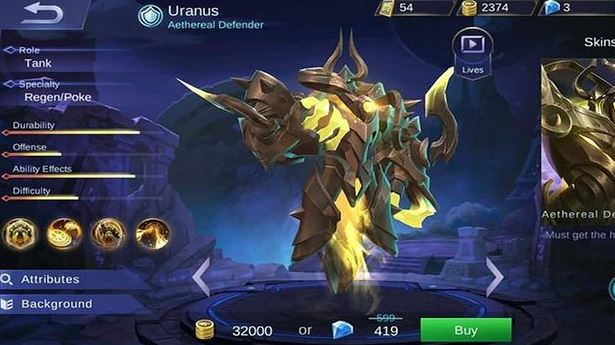 Guide dan Build Item Gear Uranus Mobile Legends