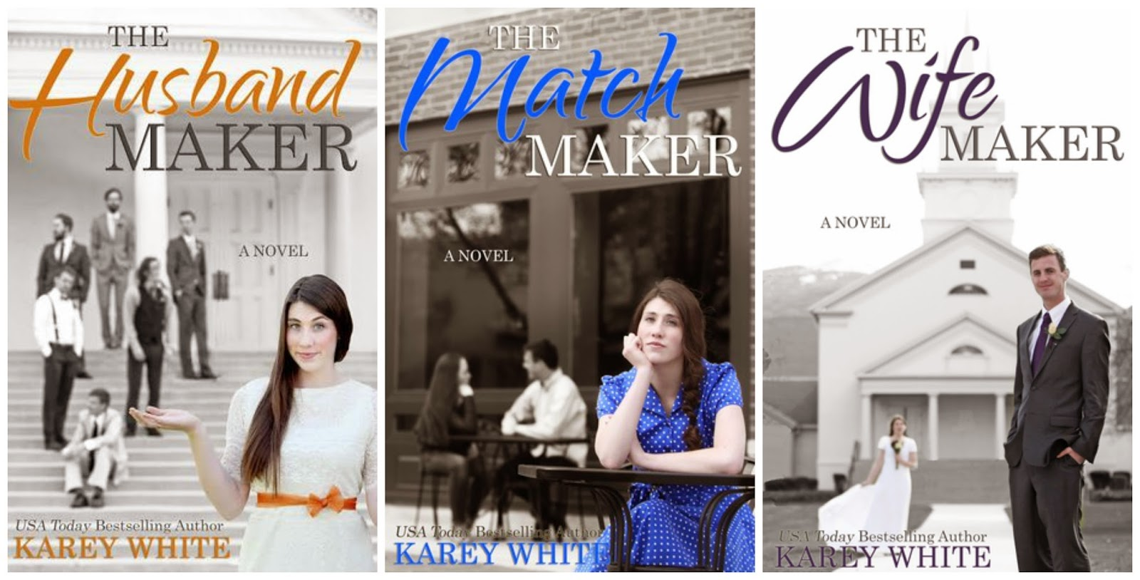Book covers: The Husband Maker series by Karey White