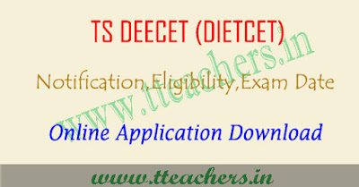 TS DEECET 2019 online application form, Dietcet apply online 2019