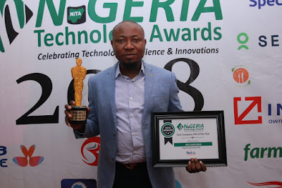 Rex Mafiana Voted 'Tech Company CEO' At The Nigerian Technology Awards (NITA) 2018