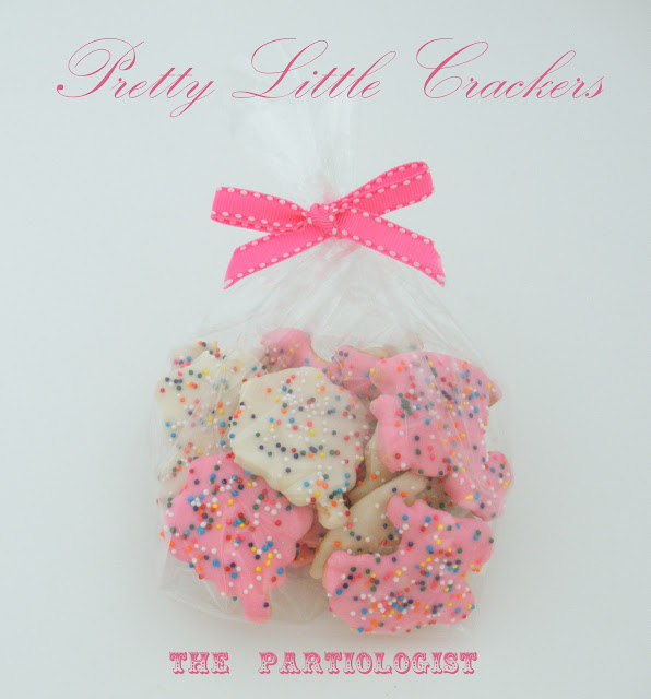Baby Shower Favors With Animal Crackers ~ The partiologist baby crackers
