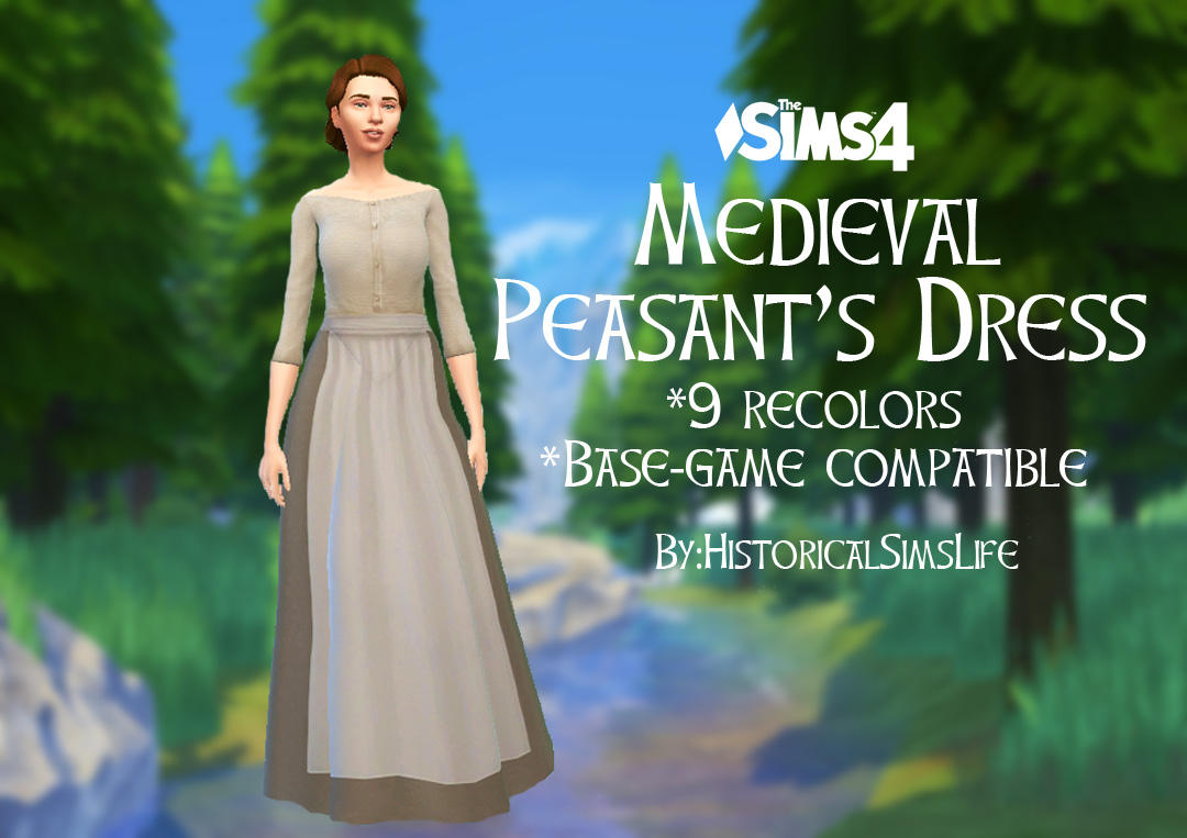Modern dress 1920 - Ts4 Medieval Peasant S Dress History Lover S Sims Blog