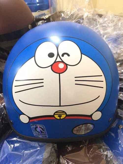 30k - Mũ bảo hiểm hình Doreamon xanh dương giá sỉ và lẻ rẻ nhất